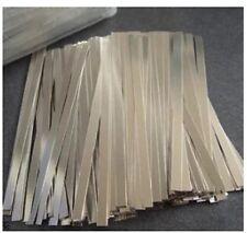 500pcs 0.1x4x100mm Nickel Plated Steel Strap Strip Sheet for battery spot welder