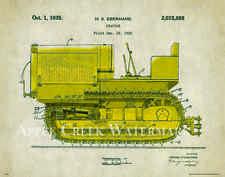 Caterpillar Tractor Patent  Poster Art Print Vintage Charles Freitag  PAT339