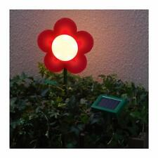Ikea Solvinden outdoor solar powered led RED Flower light 704.219.45