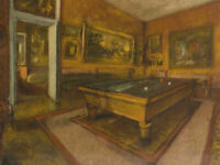 Billiard Room Edgar Degas Painting Fine Art Print Giclee Repro CANVAS Small 8x10