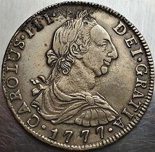 8 Reales 1777PTS PR Charles III DEI GRATIA Bolivia TOP Grade!!! / Rare !! KM# 55