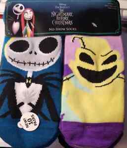 Disney Nightmare Before Christmas Women's No Show Socks, 10-Pack (LOC TUB SOCK)