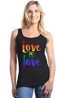 Love is Love Women's Tank Top Gay Pride Rainbow Equal Rights LGBT Tee