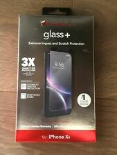 ZAGG - InvisibleShield Glass+ 360 Screen Protector Apple iPhone XR  Black, Clear