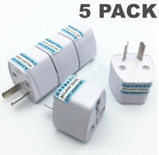 5Pcs  UK USA EU to AU AC Power Plug Adapter Travel 2 Pin Converter Australian