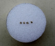 4 Natural Champagne Diamond Loose Faceted Rounds 1.5mm each