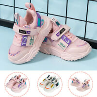 Kids Girls Boys Lace Up Trainers Sneakers Breathable Comfort Sport Running Sheos