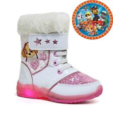 GIRLS PAW PATROL WINTER SNOW SKI WARM FUR THERMAL BOOTS ANKLE BOOT SIZE 5-12