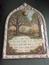 Rachel Badeau Demdaco Wall Hanging Plaque Art When It was Time The Tree...