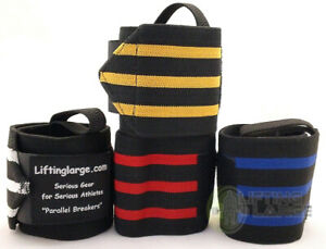 Parallel Breaker's Powerlifting Wrist Wraps 12 inch, 24 inch or 36 inch Pair