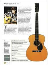 John Mayer Martin OM-28 + Vintage Martin 2-27 acoustic guitar article with specs