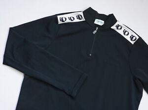 PEARL iZUMi Cycling 1/4 Zip Long Sleeve Technical Jersey mens top size XL black