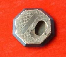"Antique Mariners Pinch Hole Snuff Box   Engraved Brass & Hardwood 2.75"" x 2.75"""