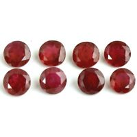 Wholesale Lot 3mm Round Facet Natural Mozambique Ruby Loose Calibrated Gemstone