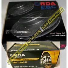 RDA Dimpled Front Brake Rotors & Pads Nissan Pulsar N15 SSS 2.0L *CHECK PAD PIC*