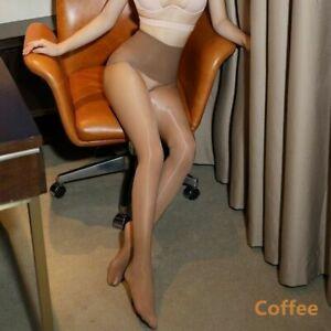 8D Women High Waist Seamless Sheer Stockings Super Shiny Glossy Pantyhose Tights