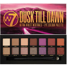 W7 Dusk Till Dawn Eyeshadow Palette - Shimmery Matte Colours Pink Purple Nude