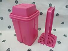 Tupperware Large 1L Square Pick a Deli Beetroot Keeper Pink New