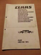 Ersatzteilliste CLAAS Schwader Liner 780 und 780L parts list Ausgabe 1998