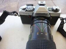 Minolta XG-1 Vintage Camera w/ Quantaray F=60-300mm Auto Zoom Lens
