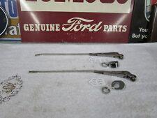 1955 1956 Ford Sedan Wiper Arms & Bezels L & R Mercury