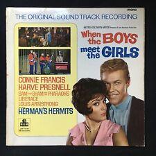 WHEN THE BOYS MEET THE GIRLS Hermits Francis SOUNDTRACK MGM UK VINYL LP LIBERACE