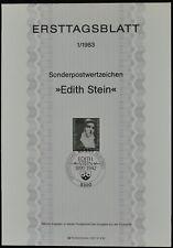 West Germany 1/1983, Edith Stein Ersttagsblatt