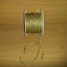 Lurexkordel Ø 7 mm Zweifarbig Gold Schwarz Dekokordel Brokatkordel 1m//5m//10m//20m