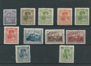 Stamps Luxembourg 1924 150/159 Grande-Duchesse Marie-Adélaide MNH** + 2 stamps