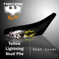 SUZUKI RM125/250/465 1996-2000 Yellow Lightning Skull Pile Atv Seat Cover