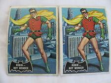 VINTAGE 1966 TOPPS BATMAN BLACK BAT #2 ROBIN BOY WONDER CARD