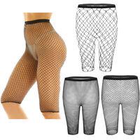 Womens Summer Fishnet Bikini Swimwear Cover Up Mesh Half Shorts Beach Hot Pants