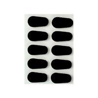 GMS Optical Adhesive Soft Comfort Foam Nose Pads for Eyeglasses - Black (5 Pair)