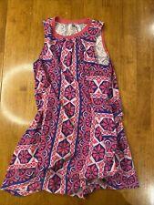 Tea Collection Girls Size 10 Sleeveless Floral Cotton Summer Dress