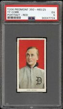 Very Rare 1909-11 T206 Ty Cobb Red Portrait Detroit HOF PSA 5 EX HIGH END