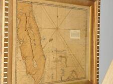 Florida/Bahamas Antique Map Print Robert Sayer Print Surveyed 1535 -1775 Framed