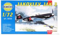 SMER 0836 Jakovlev JAK 3, Flugzeug, UDSSR, Bausatz, 1:72