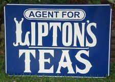 LIPTONS TEAS ENAMEL SIGN (MADE TO ORDER) #11