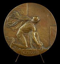 Médaille Hermès God  Kruisschanssluis Begié Antwerpen 1928 Anvers Belgique medal