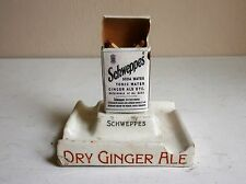 Antique Schweppes Ashtray and Match Striker/Holder