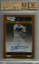Deven Marrero 2012 Bowman Chrome Gold Refractor Autograph #39/50 BGS 9.5