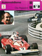 FICHE CARD :1. Clay Regazzoni SWITZERLAND SUISSE SCHWEIZ  Formula 1 RACE CAR 70s