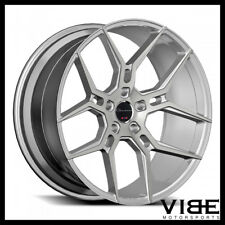 """20"""" GIOVANNA HALEB SILVER CONCAVE WHEELS RIMS FITS FORD MUSTANG"""