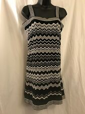 Missoni For Target Dress Size Small Chevron Black White Sweater Tank Top Mod