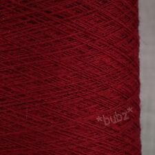 100% pur cachemire tissage fil 100g cônes bordeaux rouge 14 nm seul pli twist