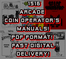 1516 Coin Op Arcade Operator'S Manuals! Pdf Fast Digital Delivery