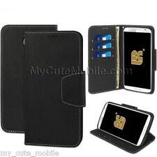 Motorola Nexus 6 XT1103 Flip Case - Black Synthetic Leather Infolio Wallet Cover
