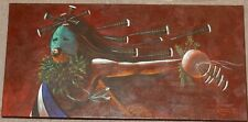 """Kachina Art by Reuben Richards (Navajo) Oil on Canvas, Gallery Wrapped 15"""" x 30"""""""