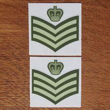 Two British Army Rank Colour Staff Sergeant CSgt SSgt C/Sgt Vinyl Sticker 5cm
