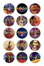 "COCO DISNEY bottlecap images 15 precut 1"" circles *****FREE SHIPPING*****"